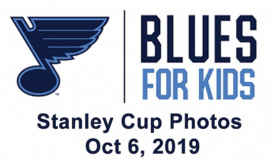 Blues for Kids Stanley Cup Photos Oct 6, 2019